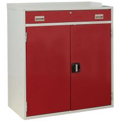 Flat Top Double Workstation - red