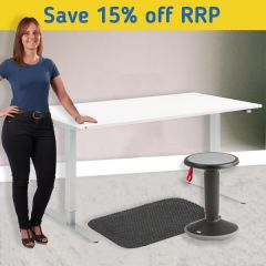 Flexus Height Adjustable Desk Kit - Motion Up Stool