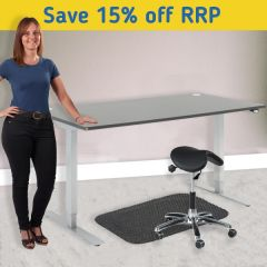 Flexus Height Adjustable Desk Kit - Perch Stool