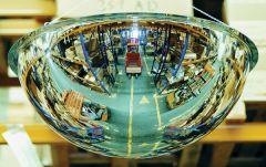 Full 360° Hemisphere Mirrors - showing line of sight