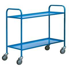 Fully Welded 2 Shelf Trolley - Blue
