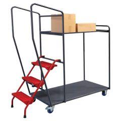Fully Welded Order Picking Trolleys - 2 Shelf