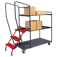 Fully Welded Order Picking Trolleys - 3 Shelf