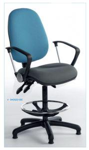 Fully Ergonomic Draughtsman Office Chair - Blue Back