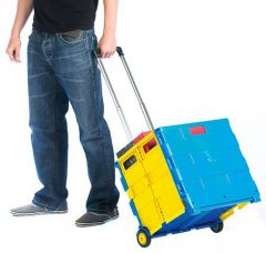 Folding box truck in blue and yellow GI041Y