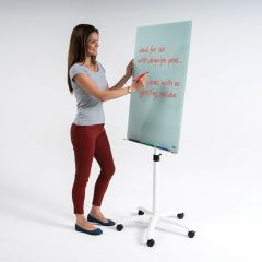 Write-On Glass Flipchart Easel - H1000mm x W700mm