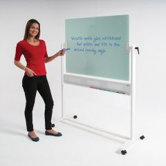 Glass Revolving Whiteboard - H900mm x W1200mm