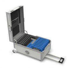 GoCabby Tablet Computer Trolley open showing tablets