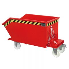 Cable Operated Tipping Skip with Optional castor set