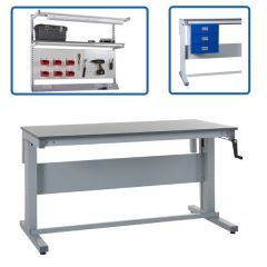 Heavy Duty Manual Height Adjustable Workbench- With Accessories