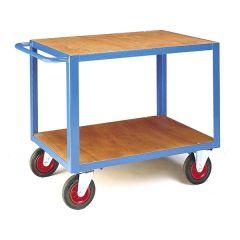 Heavy Duty Table Trucks - Timber Top & Bottom Shelf