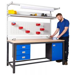 The max load for this workbench is 1200kg UDL (Uniformly distributed load)