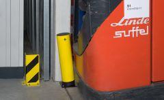 Impact Protection Bollard -Powder Coated Yellow H655mm