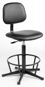Industrial Chair with fixed steel footring