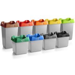 Open Top Recycling Bin - Light Grey