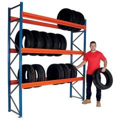 Longspan Tyre Racking for heavy commercial use