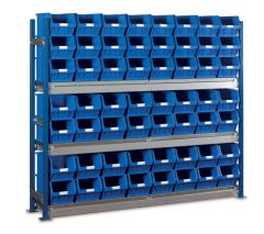 Longspan Bay Shelving Kits with WPTC4 Bins