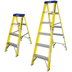 EN131 Glassfibre Swing Back Step Ladders