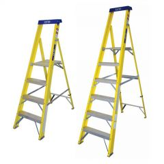 EN131 Glassfibre Platform Step Ladders