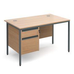Maestro Single Pedestal Desk - 2 Drawer - Beech - W 1228