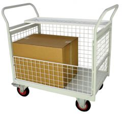 Mailroom Trolleys with Half Side