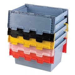 MB Containers with Hinged coloured Lids