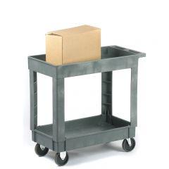 Medium duty utility trolleys with 2 shelves