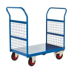 Mesh Sided Platform Trucks - Blue