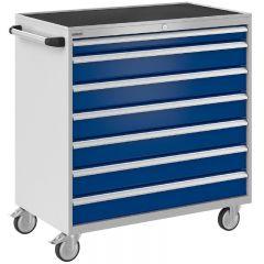 Bisley ToolStor Mobile Drawer Cabinet, 1050 x 1000mm, 7 Drawer