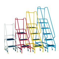 Narrow Aisle Spring Loaded Warehouse Steps - Group