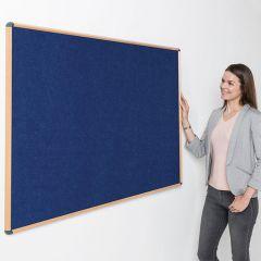 Eco-Colour Oak Framed Noticeboards - Blue