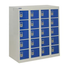 Personal Effects Locker - 20 Compartments - Blue - 900 x 940mm