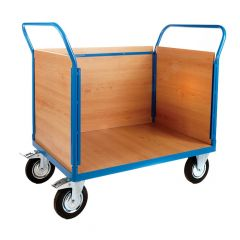 Platform Truck with 3 Veneer Sides - L1000 x W700mm