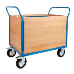Platform Truck with 4 Veneer Sides - L1000 x W700mm