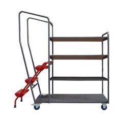 Fully Welded Order Picking Trolleys - 4 Shelf