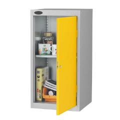 Probe Small Cupboards - Silver Body - Yellow Door