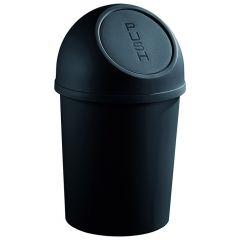 Plastic Push Bin - Black