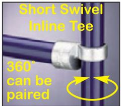 Short Swivel Inline Tee (360° can be Paired)