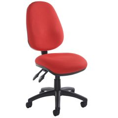 Vantage 100 Twin Lever Operator Chair - Red - No Arms