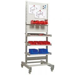 Tool Panel Trolley shown with optional clip and hook kit