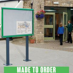 Shield® Exterior Post Mounted Showcase Notice Boards - Made to order