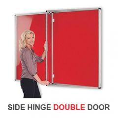 Resist-a-Flame® Tamperproof Noticeboards - Side Hinge Double Door