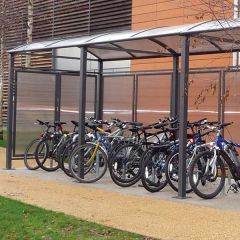 Square Tube Cycle Shelters