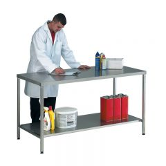 Stainless Steel Worktables and Lower Shelf
