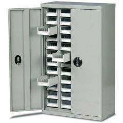48 Drawer Cabinet With Doors - H970mm x W586mm x D270mm - 72kg Capacity