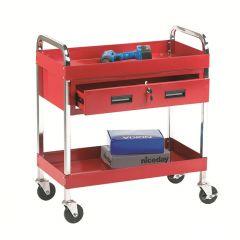 Tool Trolley 2 Trays, 1 Drawer