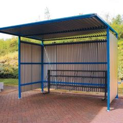Traditional Cycle Shelters with Galvanised Sides