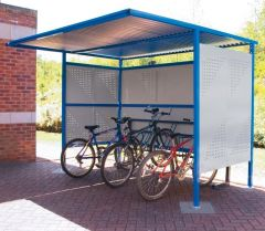 Traditional Cycle Shelters - Perforated Sides