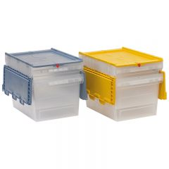 Transparent MB Containers with Coloured Lids