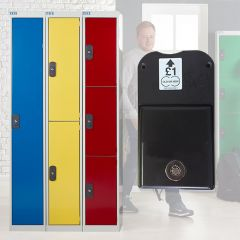 TUFF Coin Operated Lockers with a Coin Retain Lock